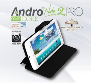 Pixcom Andro Note 2 Pro, Phablet Android, Quard Core Jelly, Harga 2 jutaan