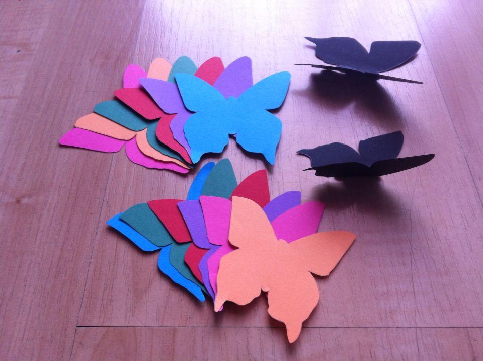 Como hacer mariposas de papel imagui - Como hacer mariposas de papel para decorar paredes ...