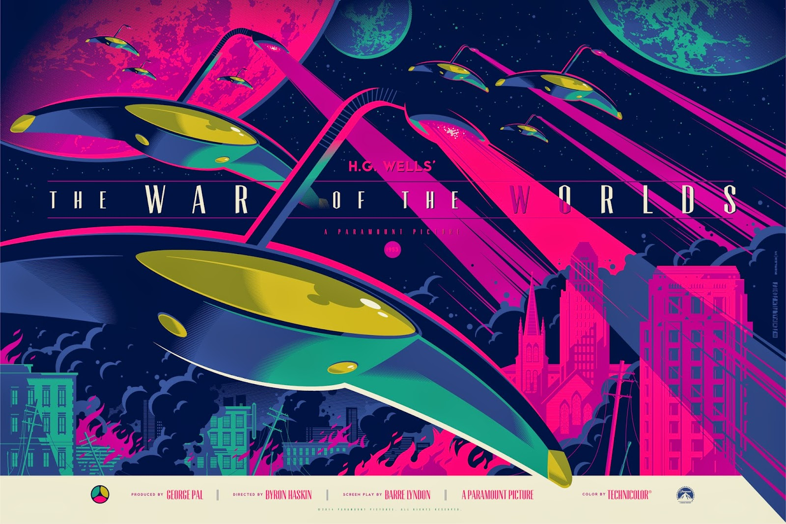 The War of the Worlds Variant Screen Print by Tom Whalen