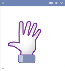 Hello hand for Facebook