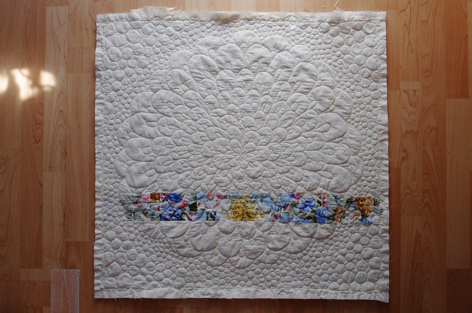 Watercolor Garden Quilt - quilting