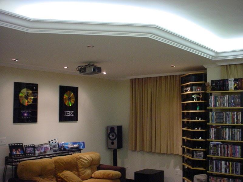 Sala De Tv Com Teto De Gesso ~ Decoração, gesso, teto, sala  Para Sempre Cinderela