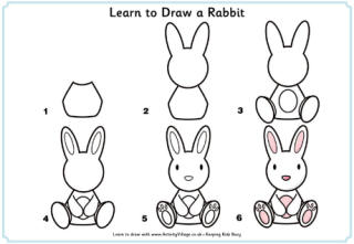 From The Heart Up.: FREE learn to draw printables - tutorials for kids