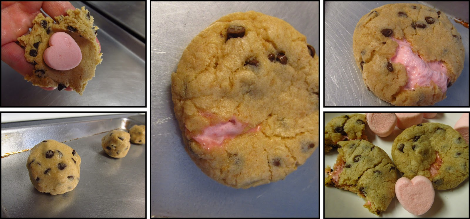 MOMS CRAZY COOKING: Chocolate Chip Cookies with Heart Marshmallow ...