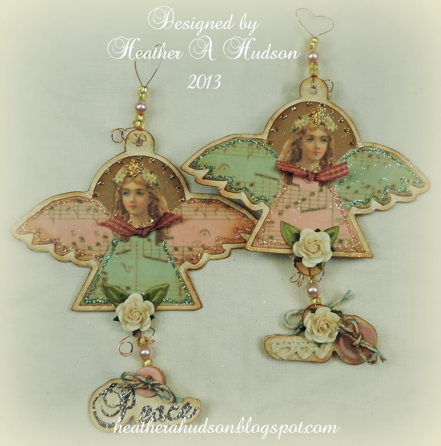 Heather A Hudson: Vintage Victorian Angels Ornaments Candy