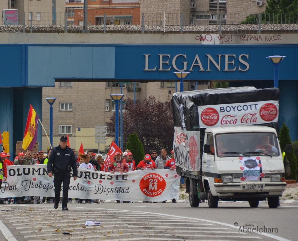 La Dignidad ha cruzado #Leganés. Marchas29NOV
