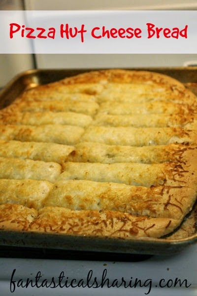 "Pizza Hut Cheese Bread | Cheesy garlicky ""breadsticks"" that rival Pizza Hut's! #copycat #recipe #pizza"