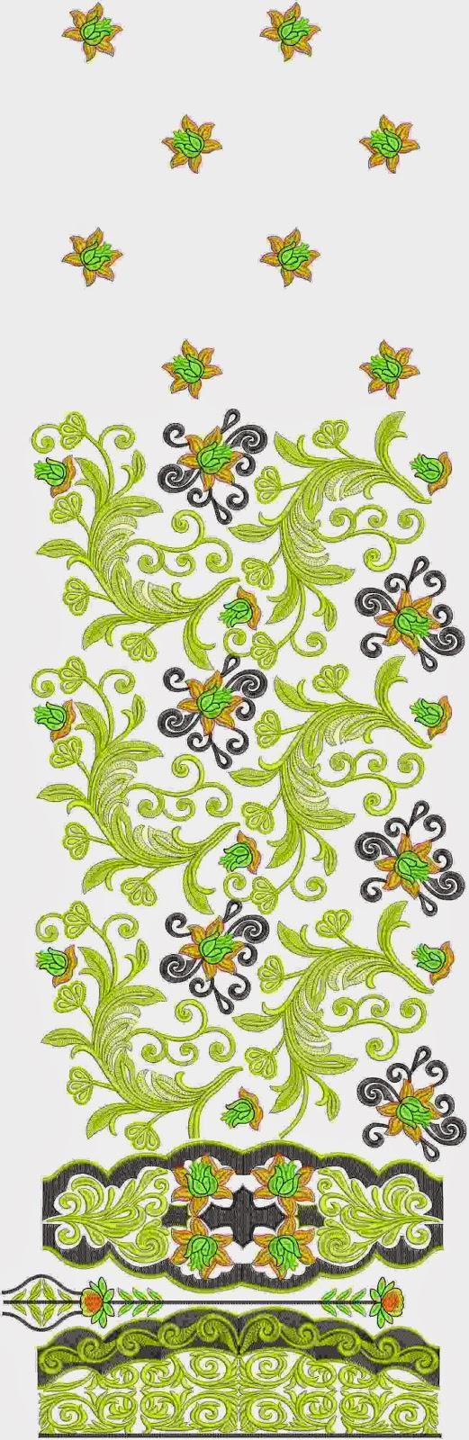 vry hand groot quilt borduurwerk Lawn pak klere