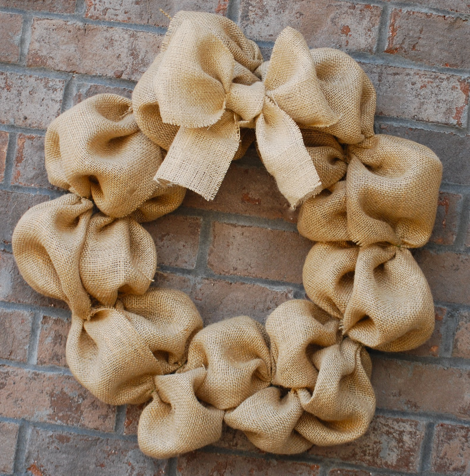 How to make a burlap wreath amanda jane brown Making wreaths
