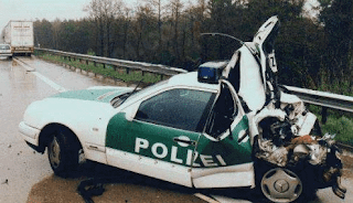 Funny pictures of german police car crash