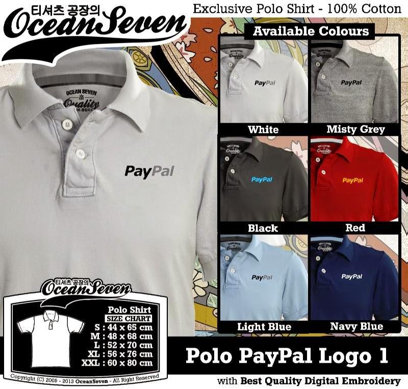 Kaos Polo PayPal Logo 1