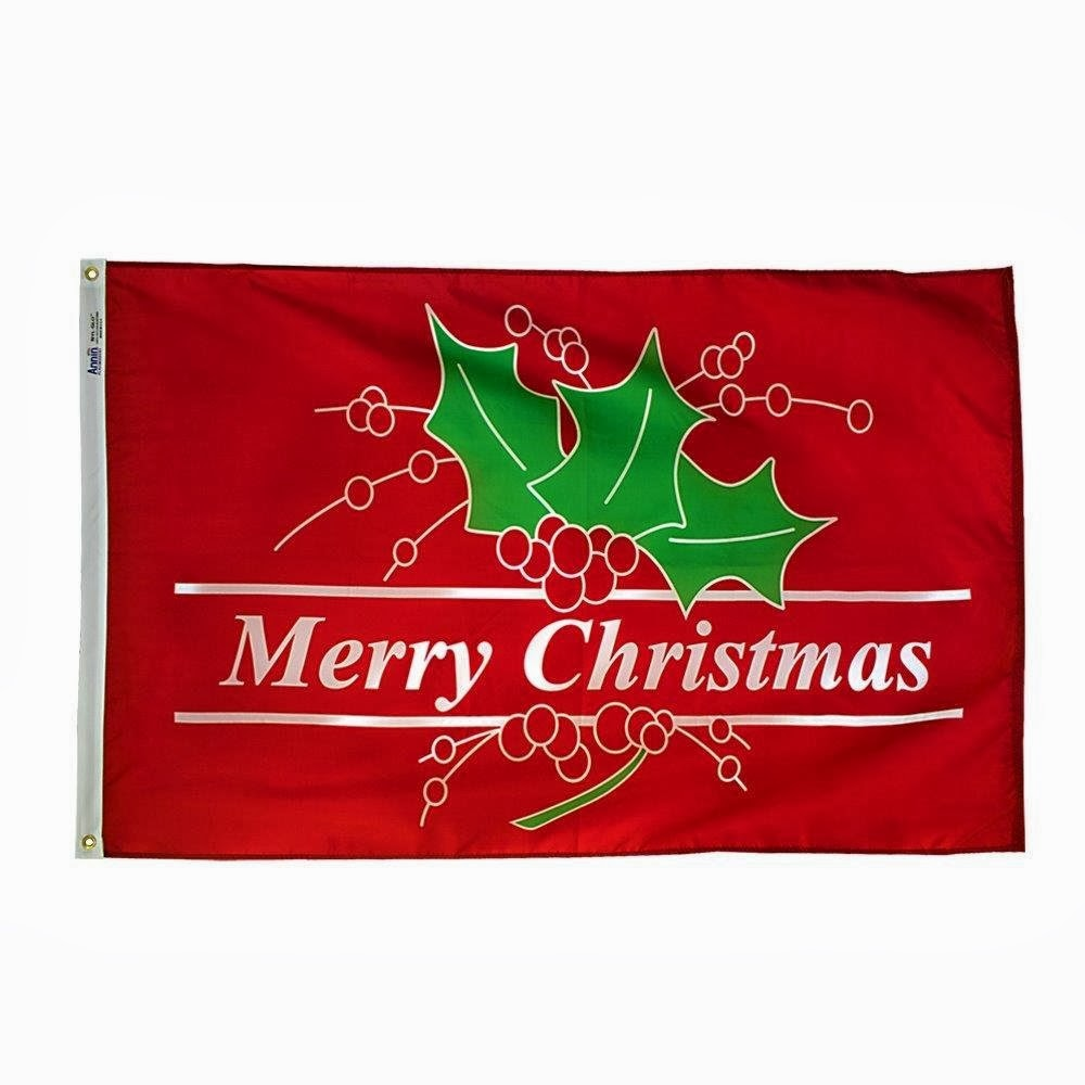 Set of Five 3' x 5' Holiday Flags