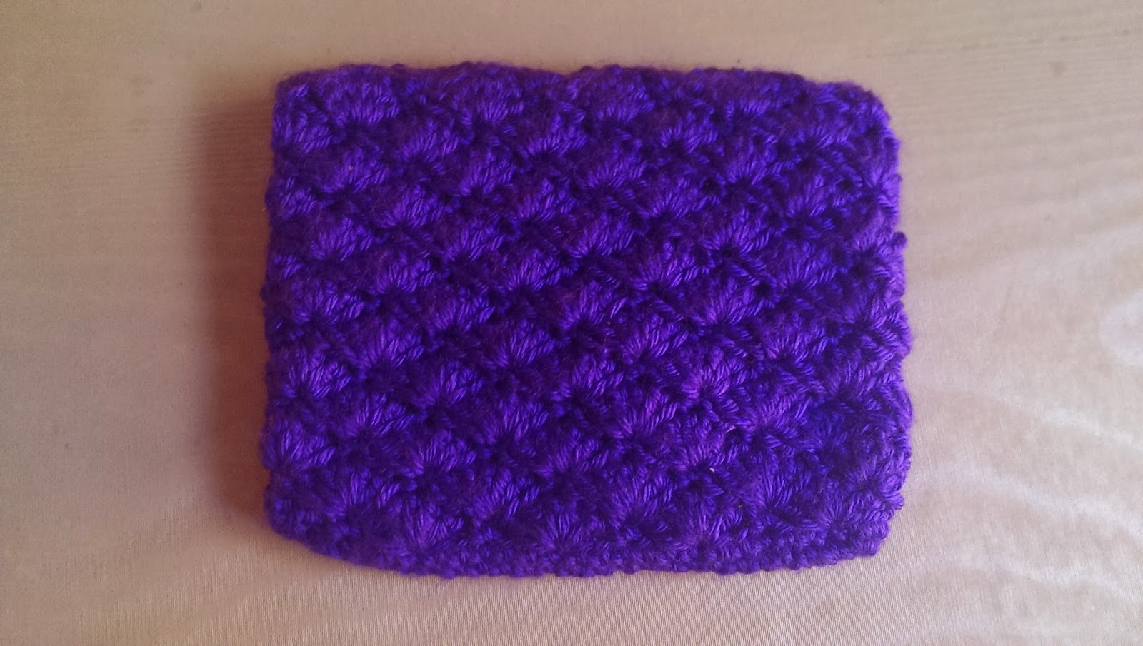 This Is The Back Of The Case I Really Like The Pattern It Made, And The  Shell Stitch Makes It Have A Cool Texture! This Picture Looks Really Neat  If You