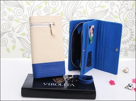 jual dompet wanita korea murah Krem-Biru