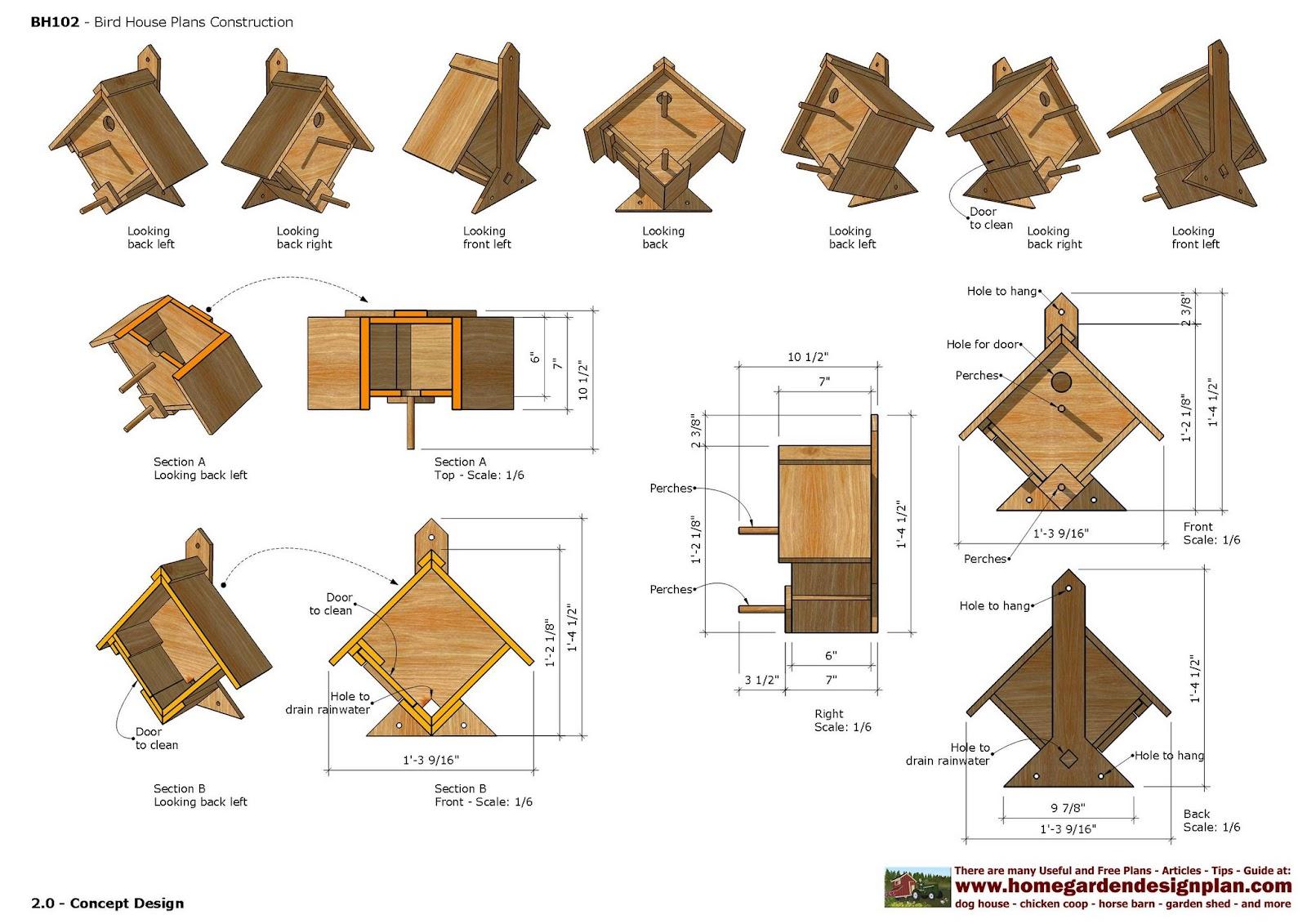 Home garden plans bh bird house plans construction for House construction plan