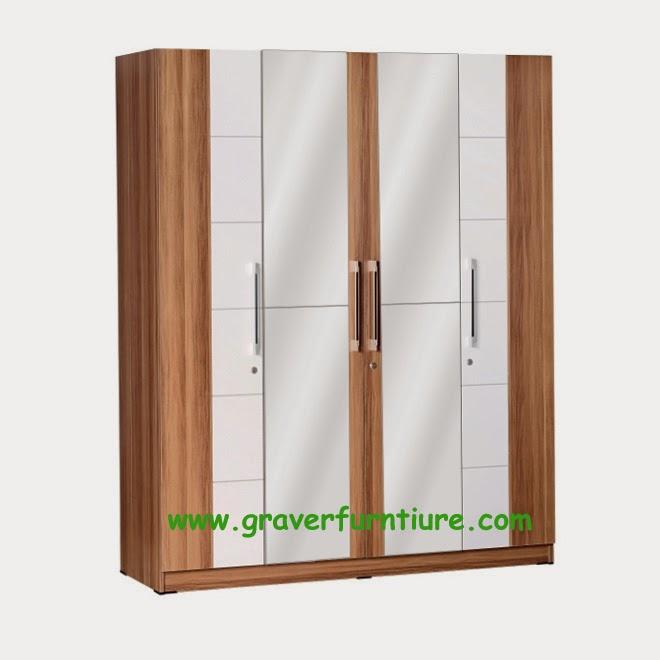 Lemari Pakaian 4 Pintu LP 2790 Graver Furniture