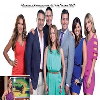 Adamari  Lopez y Compañeros de show ¨Un Nuevo Dia