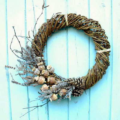 Winter wreath by Tuckshop Flowers.
