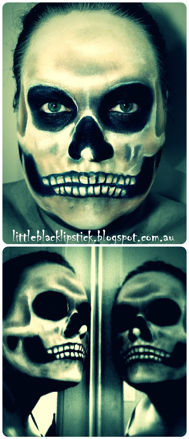 halloween skull makeup tutorial