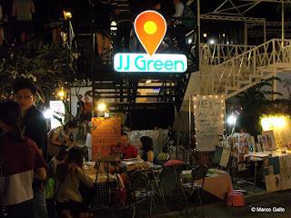 JJ GREEN MARKET, MERCADO NOCTURNO DE FIN DE SEMANA, BANGKOK. TAILANDIA