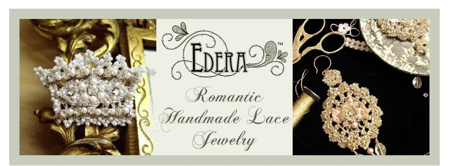 Edera  Jewelry: Romantic Handmade Lace Designs