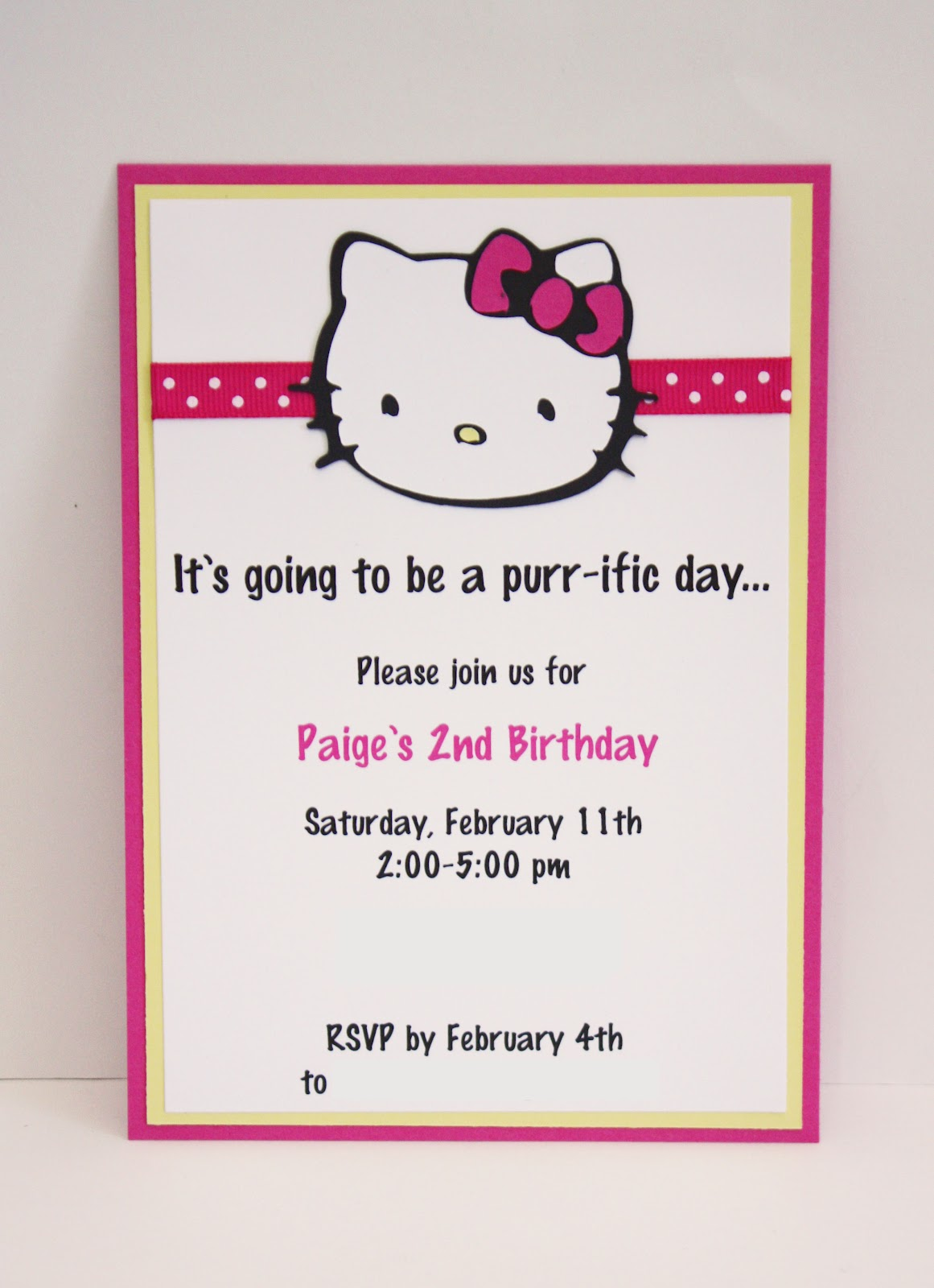 This Vertical Hello Kitty Birthday Invitation Is Such A Cute Way To Invite Your Guests The Big Event Set Theme Of From First Moment