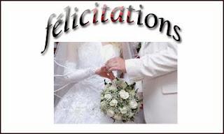 Modèle lettre de félicitations mariage