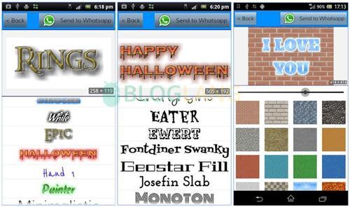 teks keren di Android
