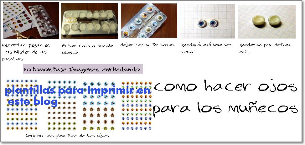 Patrones de ojos para fofuchas para imprimir - Imagui
