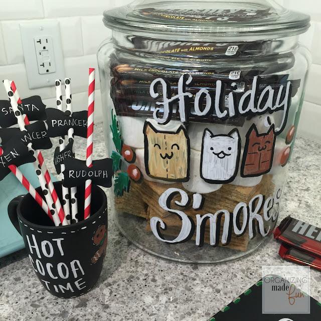 Labeling glass jars using chalk ink markers :: OrganizingMadeFun.com