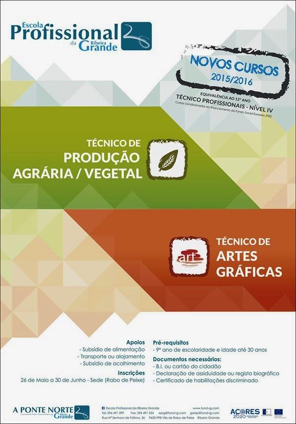 Cursos tecnico profissionais na Ribeira Grande (Açores) – 2015 / 2016