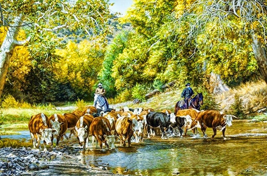 Pintura moderna y fotograf a art stica caballos y - Cuadros de vacas ...