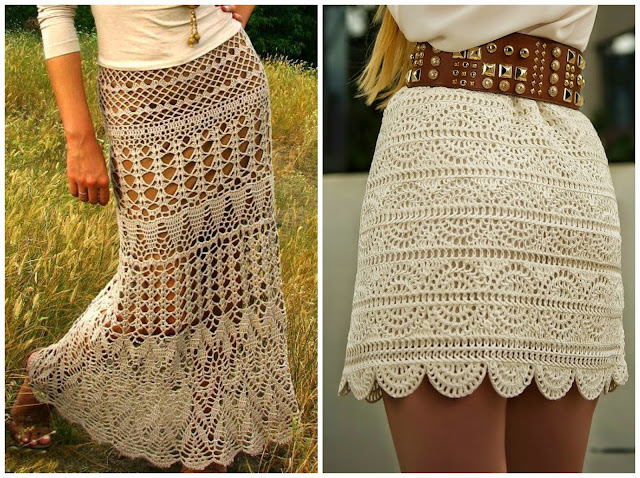Crochet Patterns Skirt : Skirt 3 Skirt 4