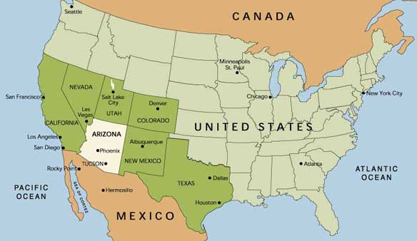 Kmhouseindia The Battle Of The USMexico Frontier - Mexico us border map