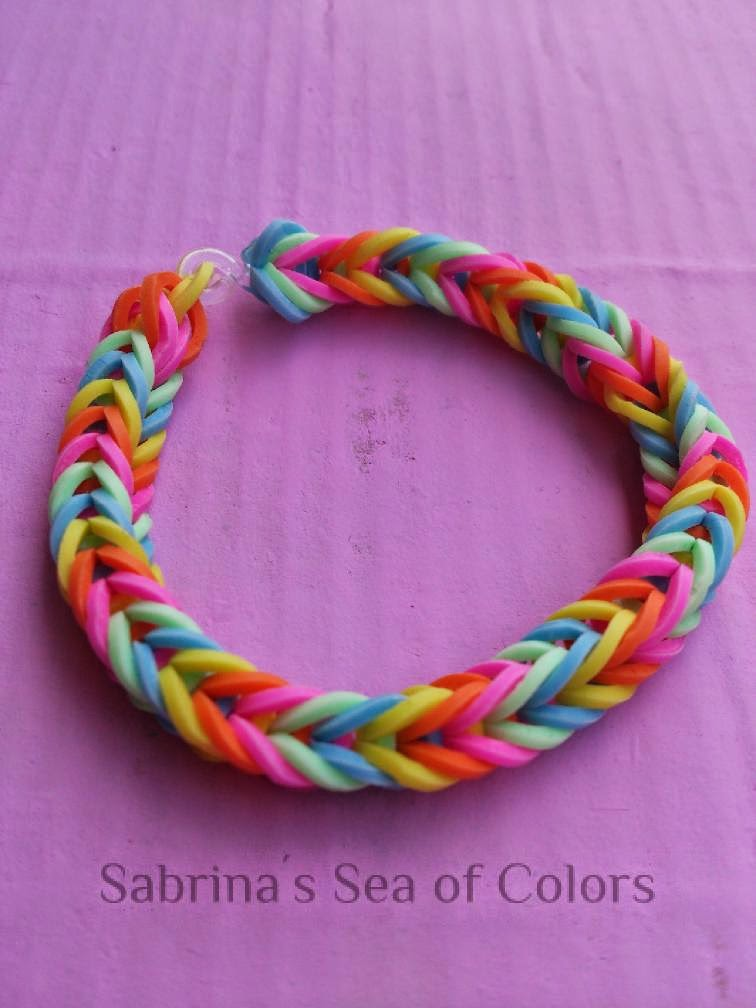 pulsera de gomitas fishtail