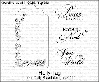 Our Daily Bread Designs - Stamps Holly Tag Set