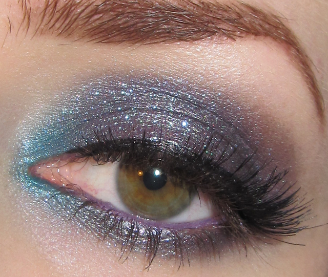 Glitter Is My Crack Blue Gray And Purple Eye Makeup Look