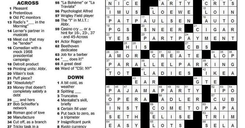 26 Best New York Times Monday Crossword