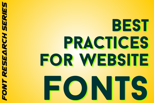 Best Practices for Website Fonts Front