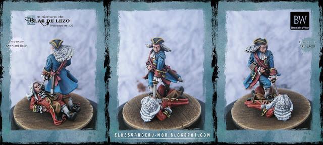 Miniatura de Blas de Lezo pintada por Manuel Ruiz y esculpida por RU-MOR