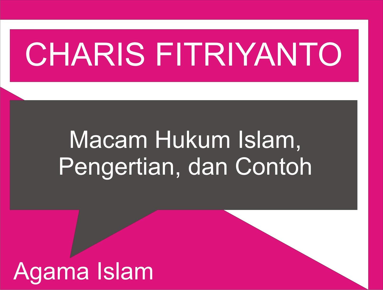 macam macam hukum islam pengertian dan contohnya