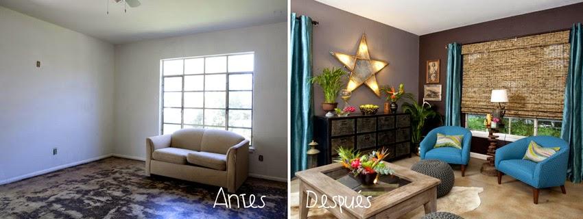 Decorar salones: antes y después4