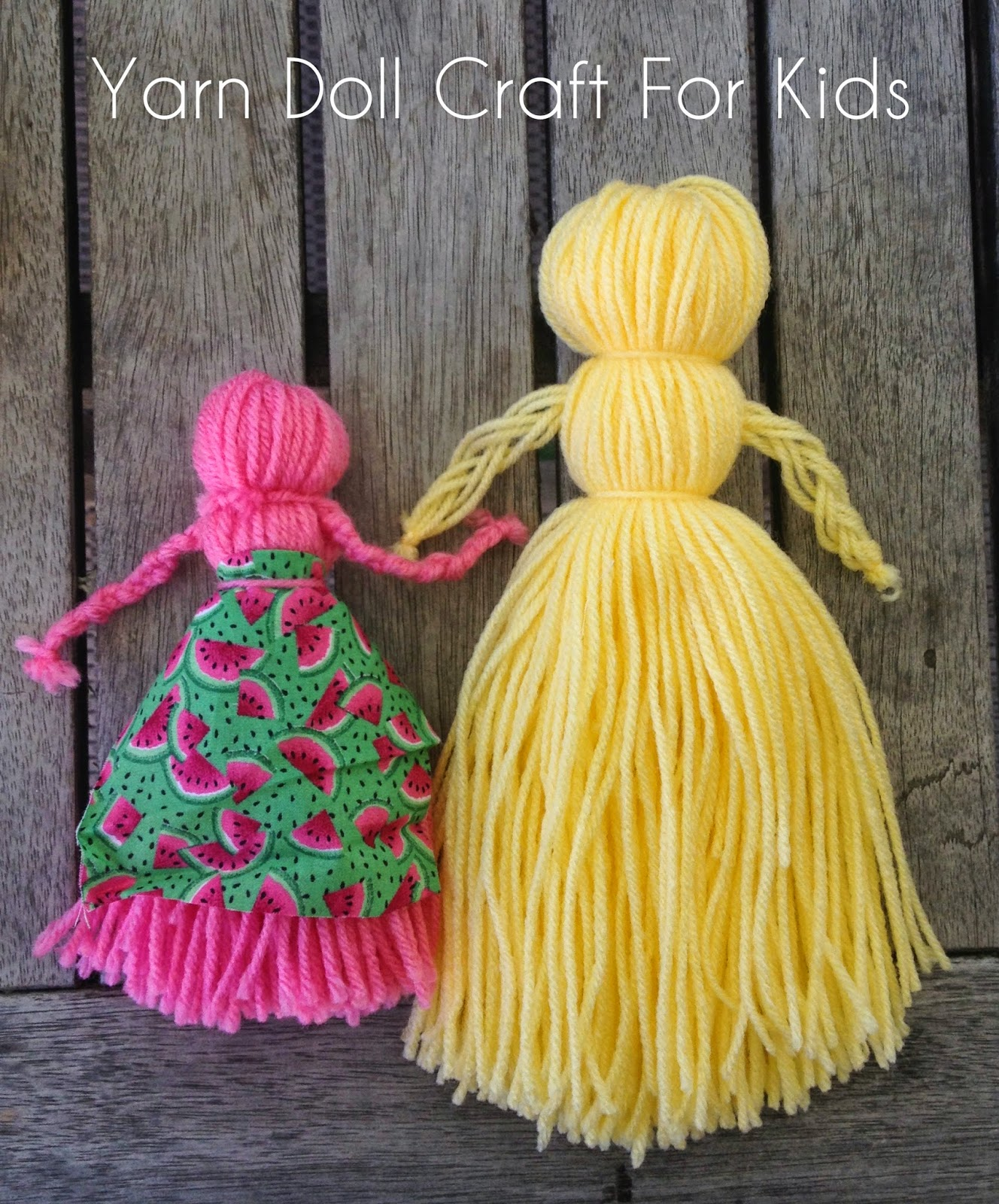 Be Brave Keep Going How To Make A Yarn Doll Easy Yarn