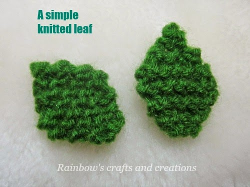 Rainbows Crafts And Creations How To Knit A Simple Leaf Pattern