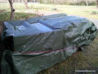 Palets protegidos de la lluvia, enredandonogaraxe