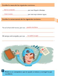 Respuestas Apoyo Primaria Español 2do grado Bloque 2 lección 2 Causas y consecuencias