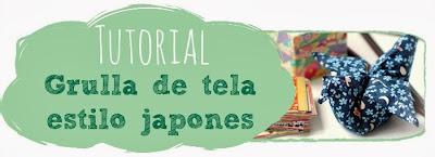 Tutorial: Grulla de tela estilo japonés
