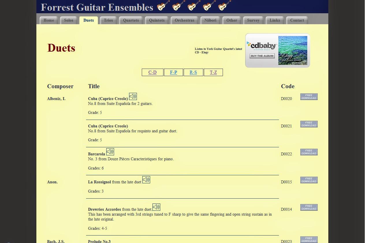 http://www.forrestguitarensembles.co.uk/duets.html