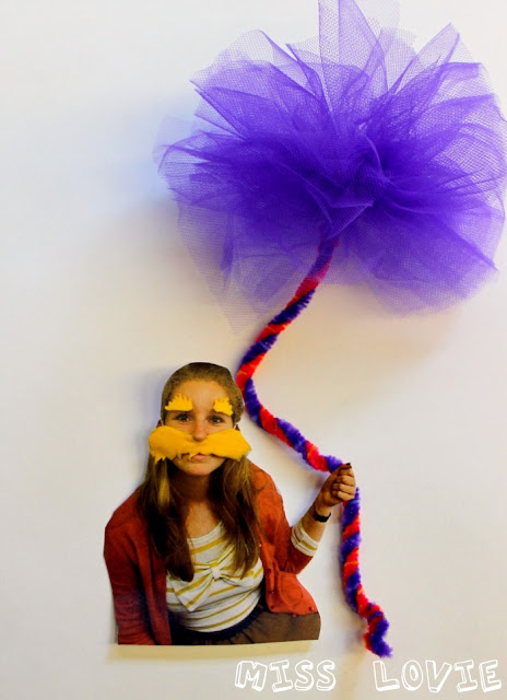 miss lovie  truffula tree kids craft tutorial and the lorax door reveal