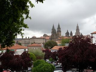 The skyline of Santiago de Compostela